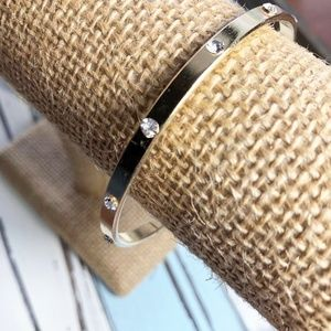 3 FOR 35 DIAMOND GOLD BANGLE BRACELET